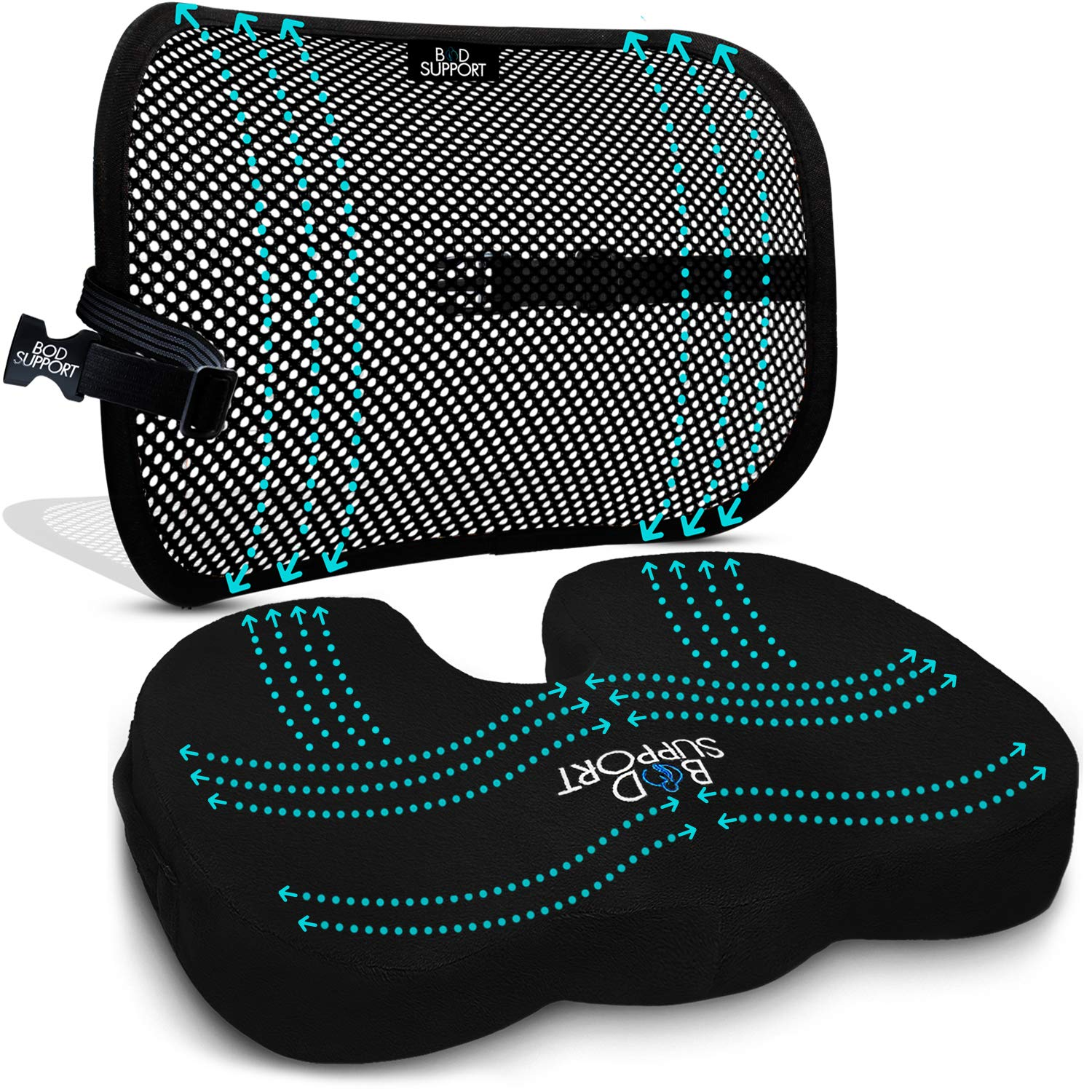 cushion set for back pain relief