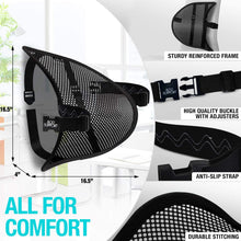 Mesh Lumbar Back Support Oval