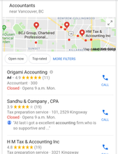 Optimized Google Maps Business Listing
