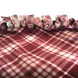 Crate / Stroller Blanket : Burgundy & Gray - LEAGUE OF CRAFTY CANINES