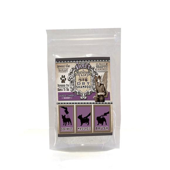 Violet the Apawthecary Fairy : (Lavender & Chamomile Scented) Dry Shampoo For Dogs! Trial Size - LEAGUE OF CRAFTY CANINES