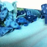 Blanket : Blue & Green Dots & Flowers (For Dogs & People!) - LEAGUE OF CRAFTY CANINES