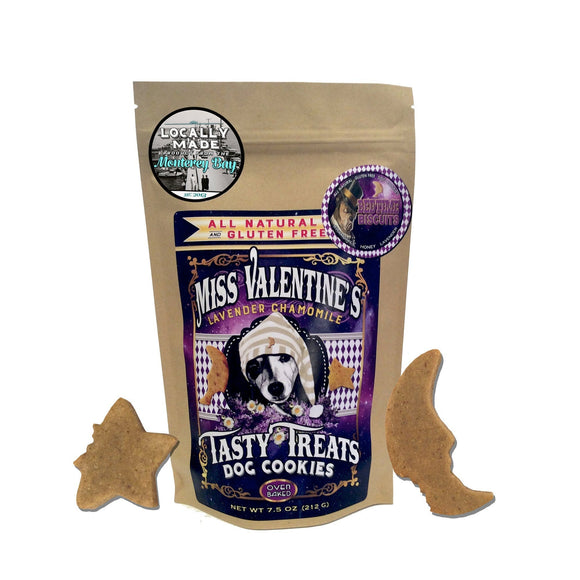 Bedtime Biscuits : Lavender + Chamomile - All Natural, Gluten Free Dog Cookies (Calming Treats) - LEAGUE OF CRAFTY CANINES