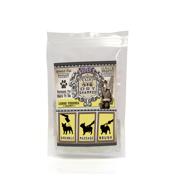 Violet the Apawthecary Fairy : (Lemon Verbena Scented) Dry Shampoo For Dogs! Trial Size - LEAGUE OF CRAFTY CANINES