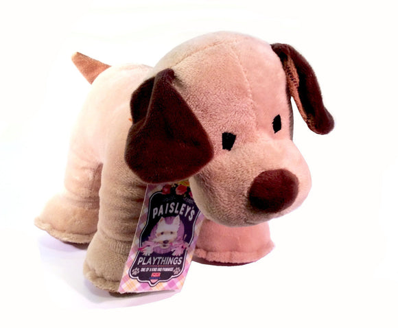 Dog Toy : Puppy Shaped Plush - Plushie Puppy - LEAGUE OF CRAFTY CANINES