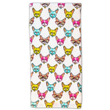 Frenchie Dog Tea Towel  Colorful Dozing Dogs in Pattern  -  Kitchen Towel - LEAGUE OF CRAFTY CANINES