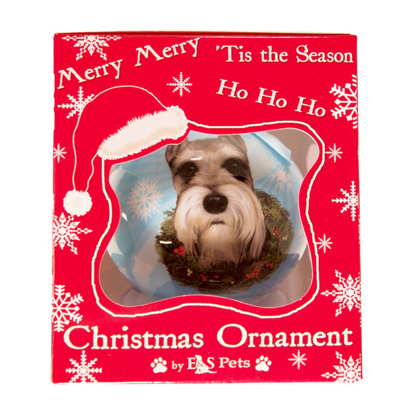 E&S Pets Christmas Ornament : Schnauzer - new in box - deco dogs - LEAGUE OF CRAFTY CANINES