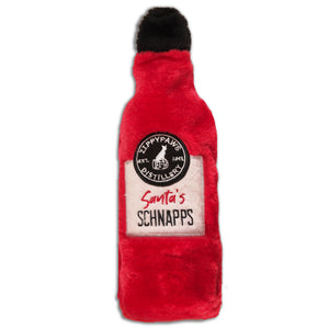 Christmas Dog Toy : Santa's Schnapps - Zippy Paws Distillery Plush - LEAGUE OF CRAFTY CANINES