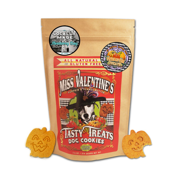 Trickster Treats  Pumpkin & Peanut Butter - All Natural, Gluten Free Dog Cookies - LEAGUE OF CRAFTY CANINES