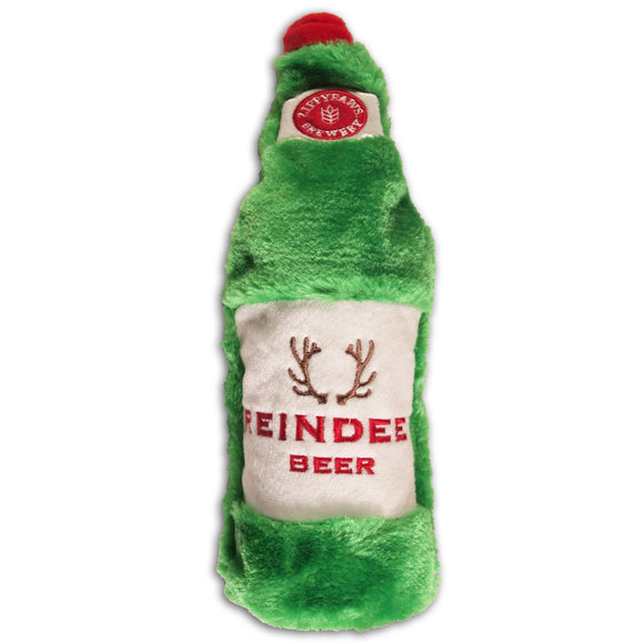 Christmas Dog Toy : Reindeer Beer - Zippy Paws Brewery Plush - LEAGUE OF CRAFTY CANINES