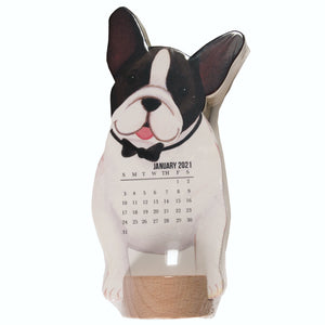 French Bulldog Stand Up Calendar for 2021 - molly & rex - dogs - LEAGUE OF CRAFTY CANINES
