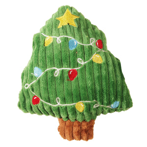 Christmas Dog Toy : Plush Xmas Tree - with squeaker  - - LEAGUE OF CRAFTY CANINES