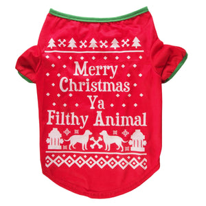 "AKC Dog T-shirt | ""Merry Christmas You Filthy Animal"" 