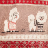 Berkshire Blanket Pet Collection : Christmas Sweater style with Dogs - 50 x 60 - reversible - LEAGUE OF CRAFTY CANINES