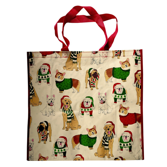 Reusable Eco Friendly Christmas Shopping/Gift Bag - Festive Dog Pack - LEAGUE OF CRAFTY CANINES
