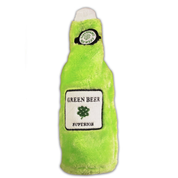 Dog Toy : St. Patrick's Day Green Beer - Plush - LEAGUE OF CRAFTY CANINES