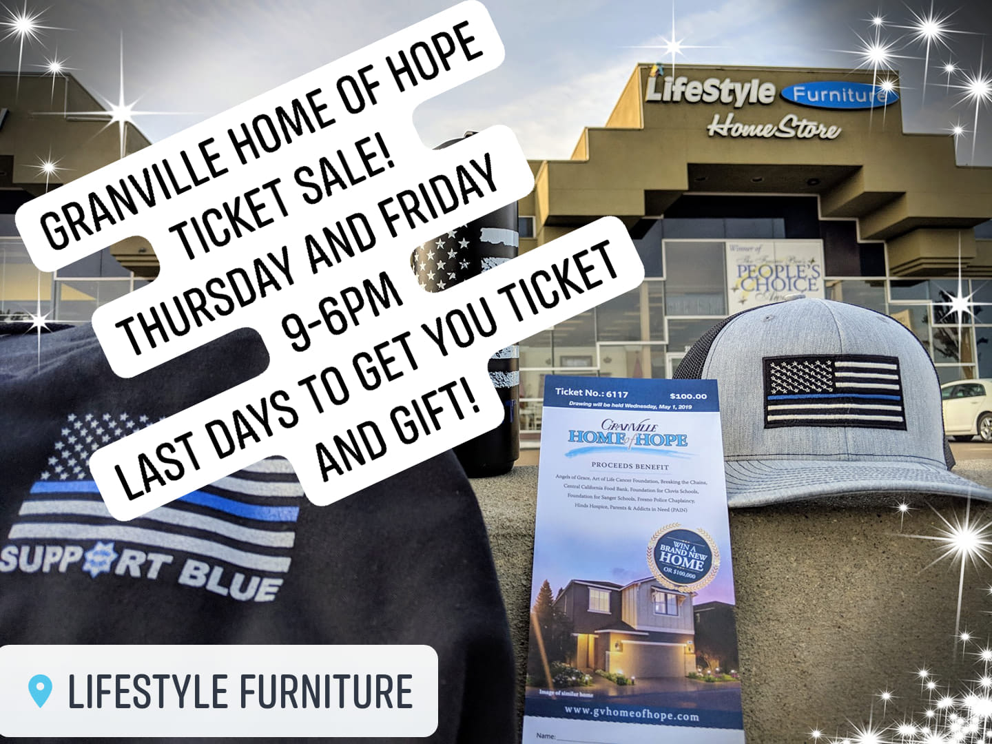 Granville - Home of Hope Ticket Sale at Lifestyle Furniture 4/11/2019
