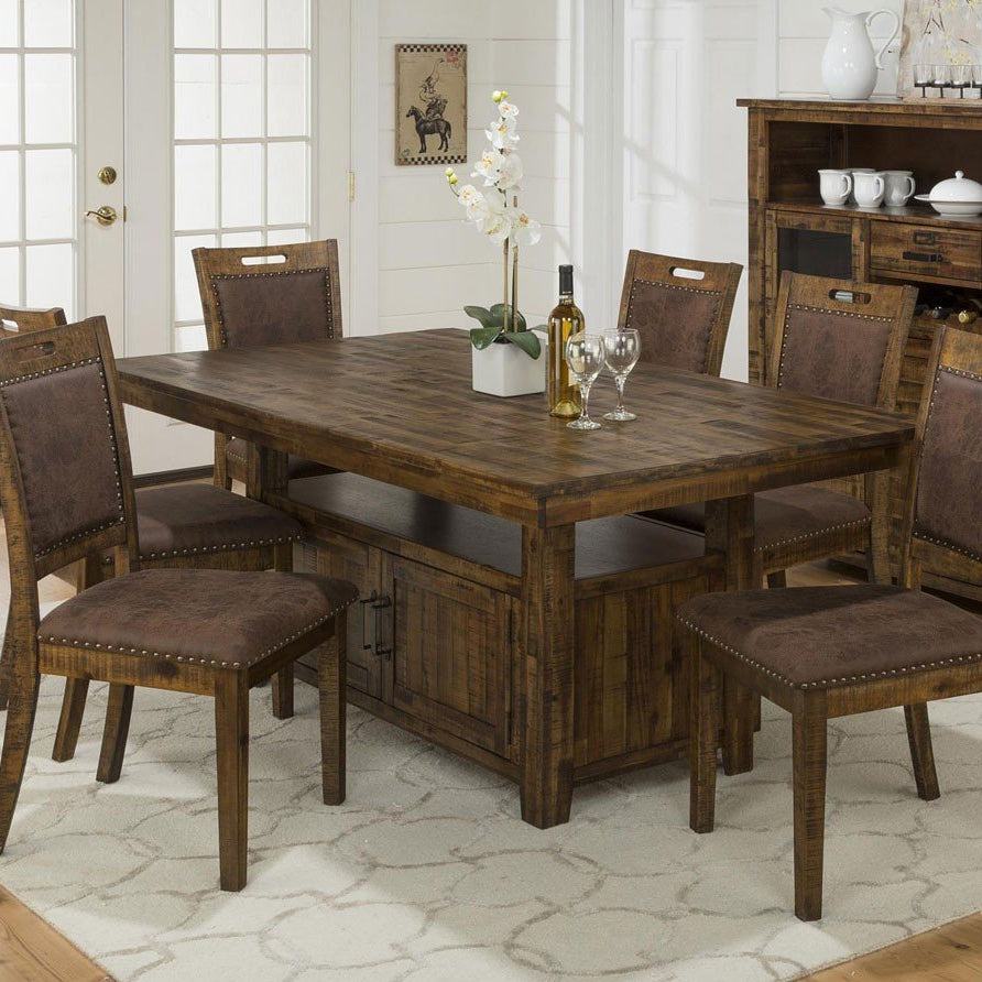 Cannon Valley Pedestal Dining Set - Lifestyle Furniture