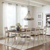 Madison Country Vintage White Rectangular Dining Table Set - Lifestyle Furniture