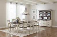 Madison Country Vintage White Low/Hi Dining Set - Lifestyle Furniture