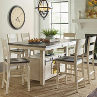 Madison Country Vintage White Counter Height Dining Set - Lifestyle Furniture