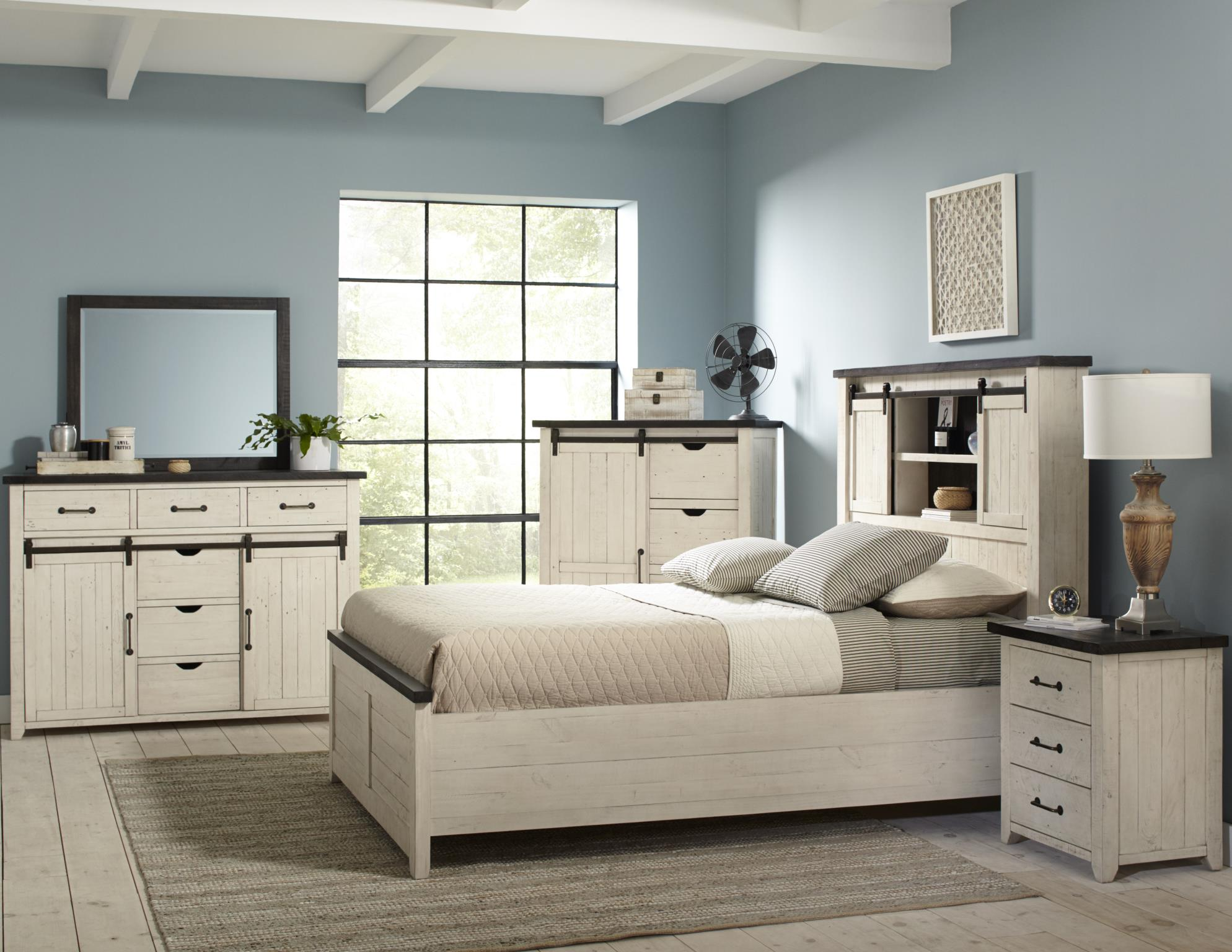 Madison Country Bedroom Vintage White  Set - Lifestyle Furniture