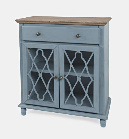Aurora Hill Accent Cabinet in Blue/Bisque - Lifestyle Furniture