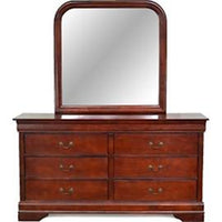 Louis Philippe Sleigh Bed in Cherry - Lifestyle Furniture