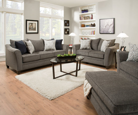 Albany Pewter Sectional - Lifestyle Furniture