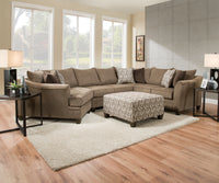 Albany Truffle Sectional - Lifestyle Furniture