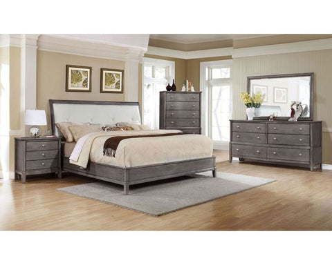 Diamond Tufted Grey - Lifestyle Furniture