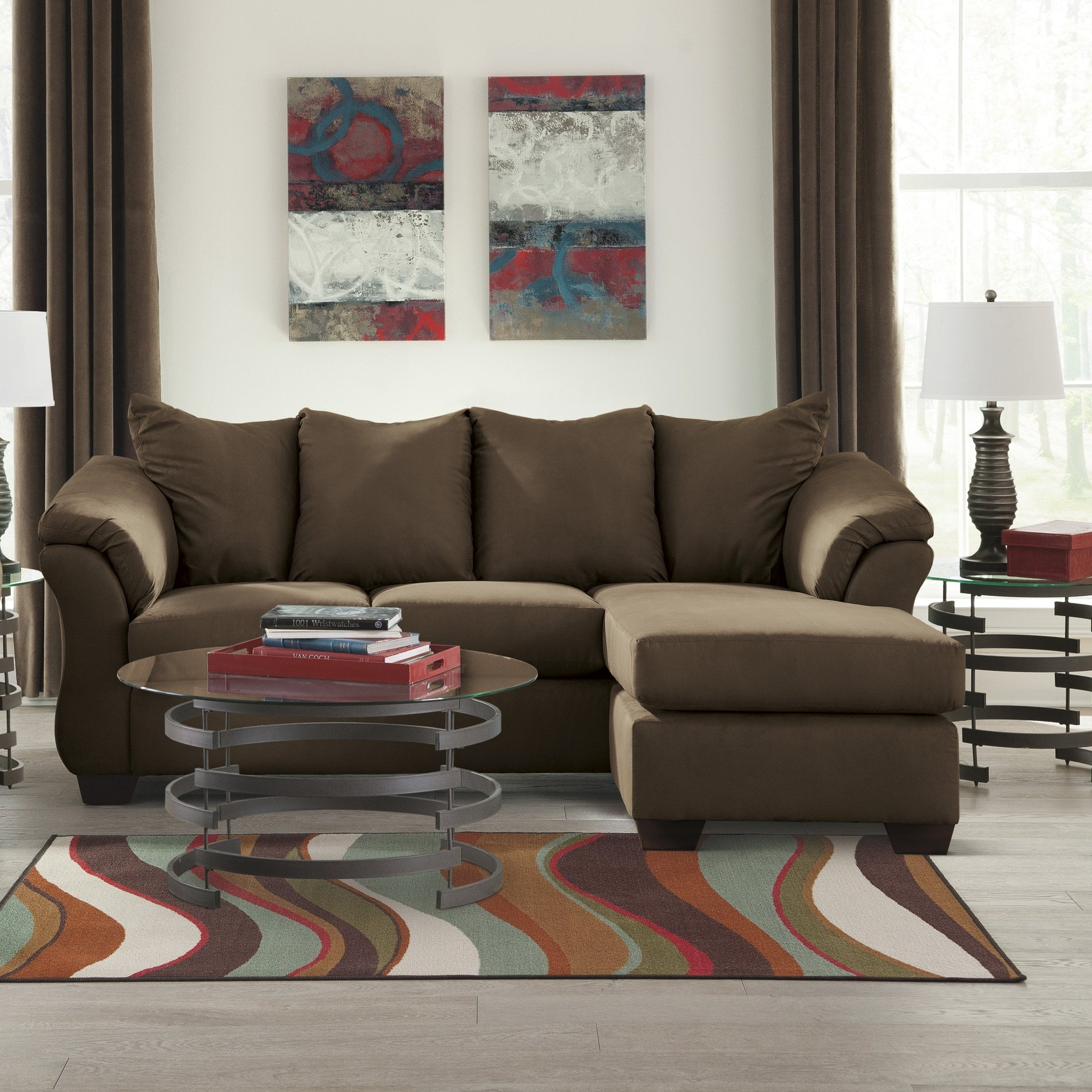 Spencer Chocolate Sofa Chaise - Lifestyle Furniture