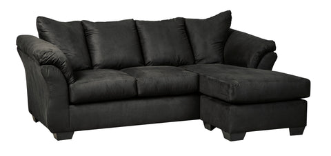 Spencer Black Sofa Chaise - Lifestyle Furniture