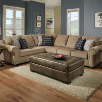 Gavin Mushroom Sectional - Lifestyle Furniture
