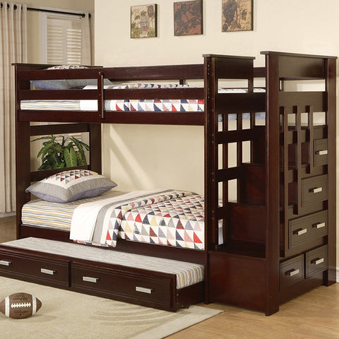 Liverpool Twin Over Twin Bunk Bed no trundle - Lifestyle Furniture