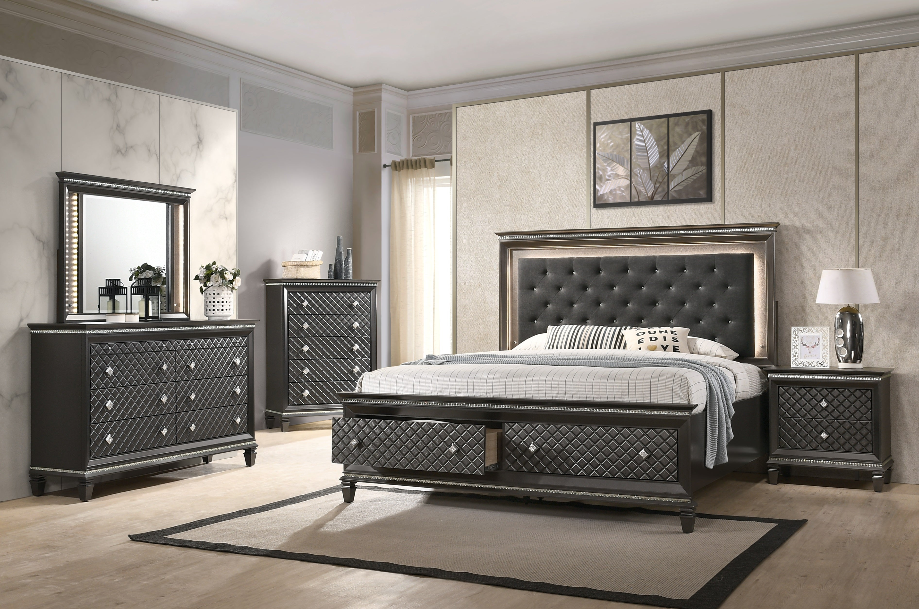 Chloe - 5 Pc Cal King Set - Lifestyle Furniture