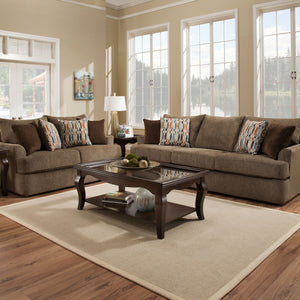 Grandstand Walnut Sofa