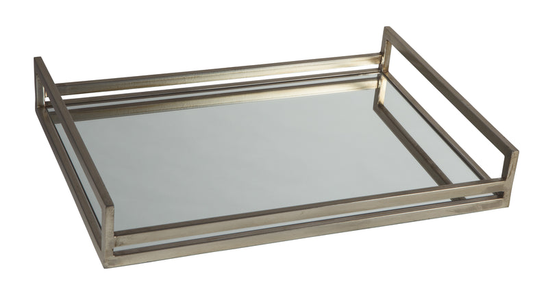 Mirrored Glass Tray - Lifestyle Furniture