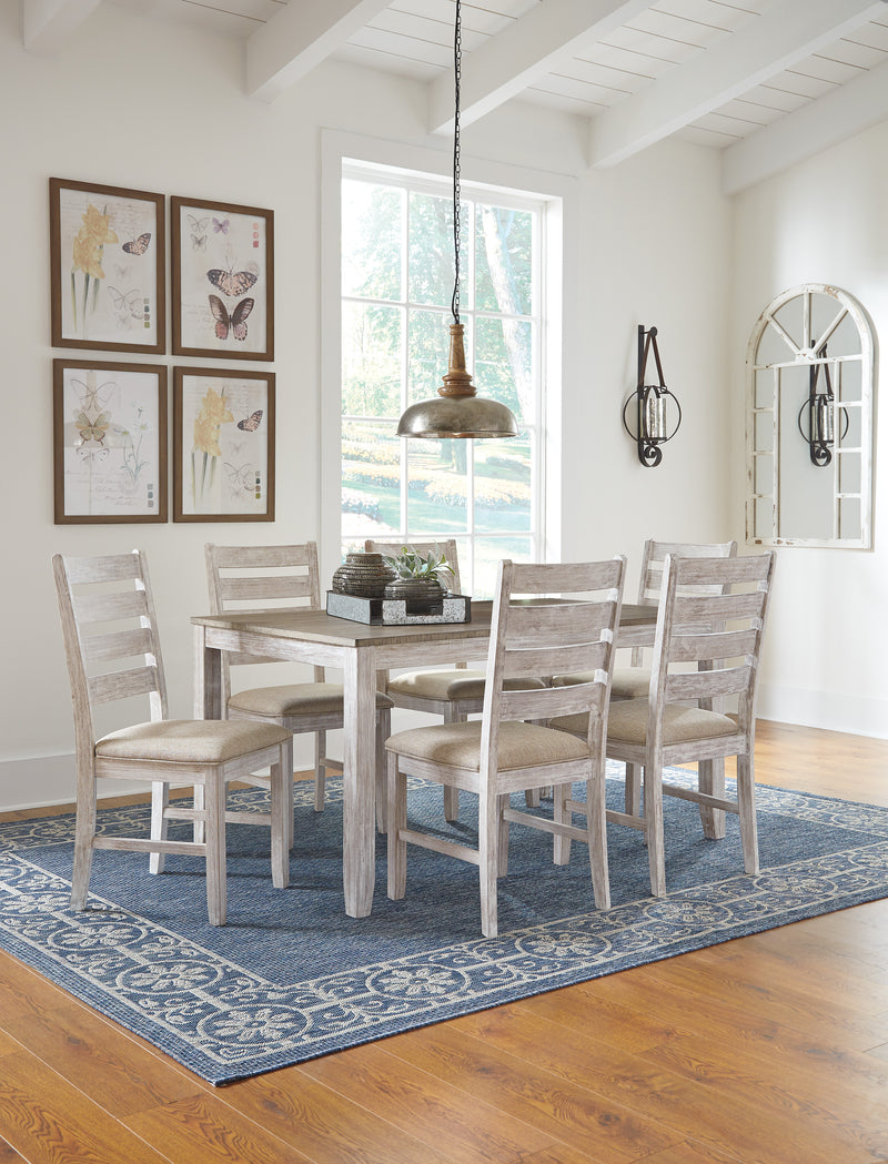 Skempton Dining with 6 Chairs - Lifestyle Furniture