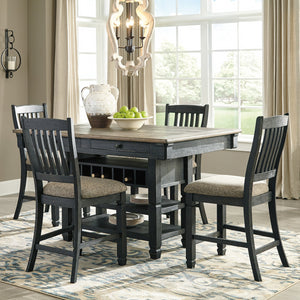 Coffee County Counter Height Dining Set