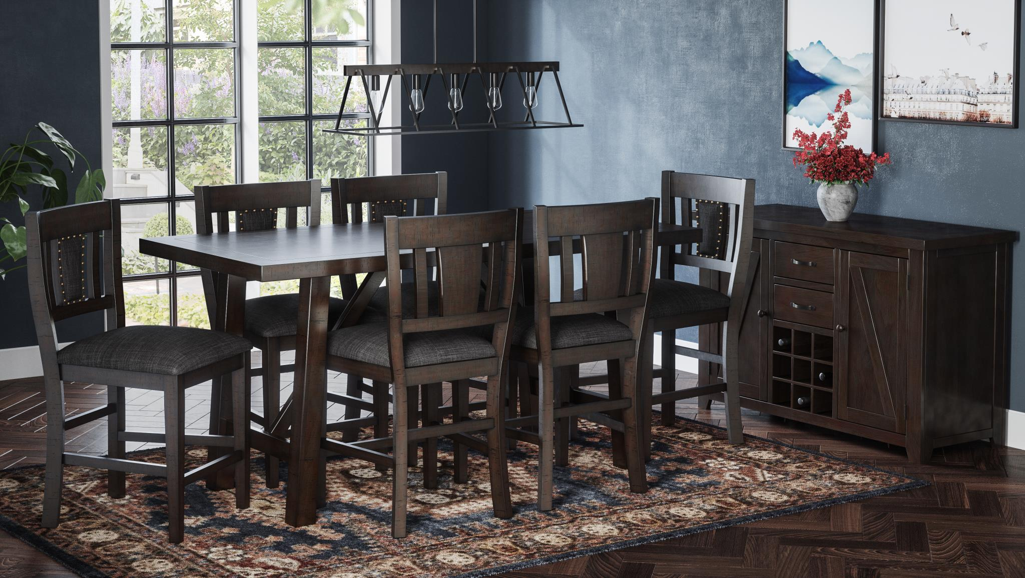 Summers Counter Height Dining Set - Lifestyle Furniture