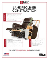 Lane Home Furnishings 6511 Hi Leg Bisbee Stone Recliner - Lifestyle Furniture