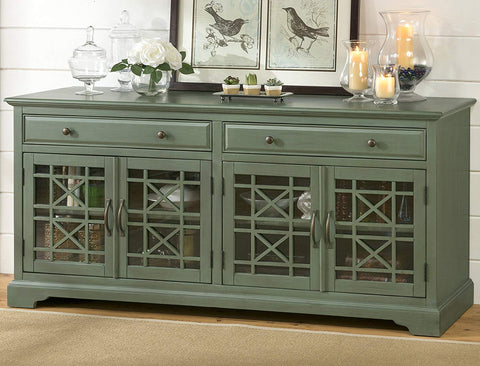 "Craftsman Media Antique Green Unit 70"" - Lifestyle Furniture"