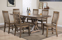 Oakhurst Trestle Dining Set - Lifestyle Furniture
