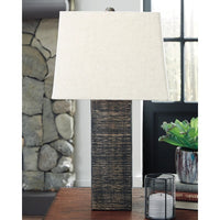 2 x Wood Table Lamp - Lifestyle Furniture