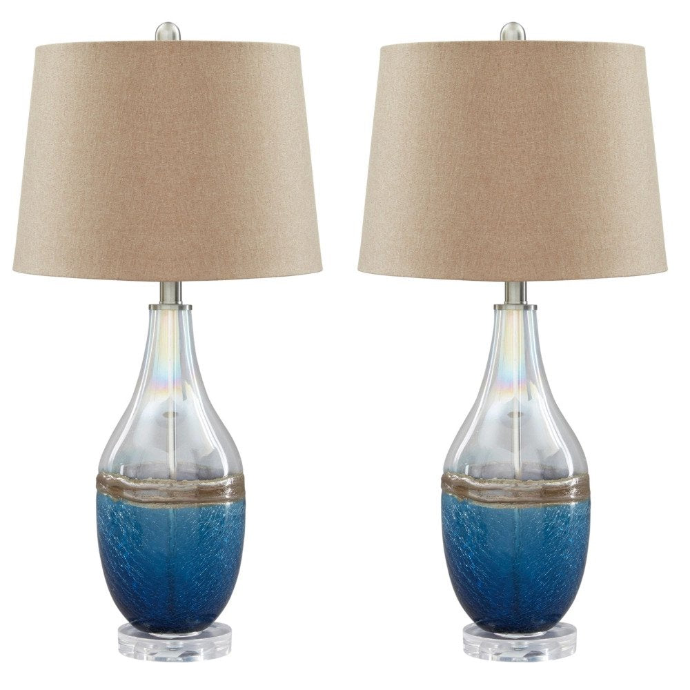 Glass Table Lamp - Lifestyle Furniture