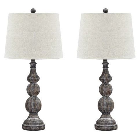 2 x Poly Table Lamp - Lifestyle Furniture
