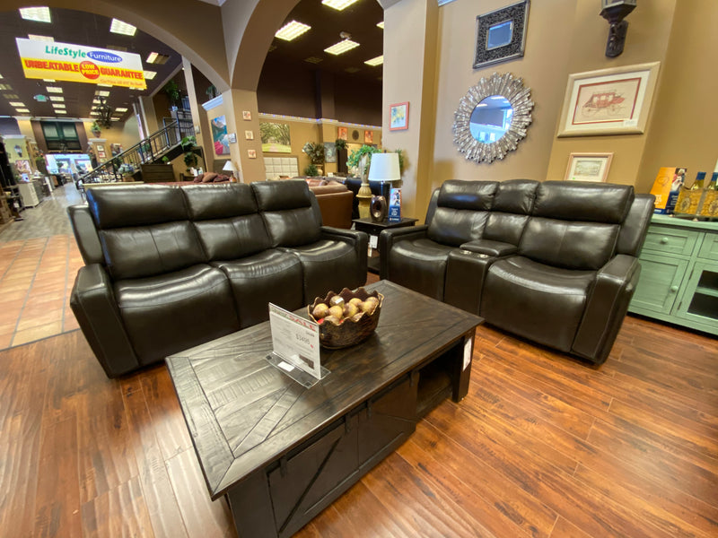 Knight Leather 3-Way Reclining Sofa - Lifestyle Furniture