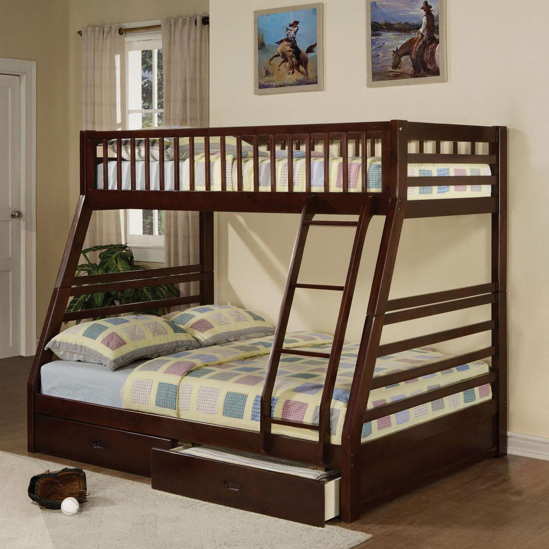Chance Twin/Full Bunkbed with Storage Drawers. - Lifestyle Furniture