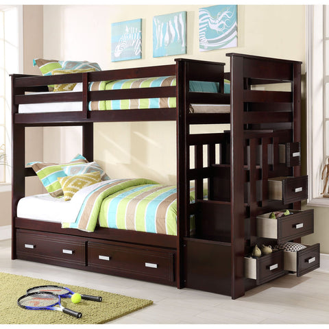 Liverpool Twin Over Twin Bunk Bed With Trundle - Lifestyle Furniture